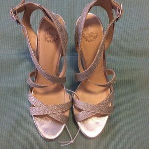 I.Miller Sena Silver Heels Size 10